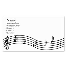 Music notes gold champaign minimal foxier business card business music notes business card reheart Images