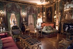 Peter's family home. All the rooms are poetic and historically filled with museum-worthy furniture and art. Ann Getty's curation is breathtaking . . .