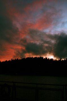Sunset over Vashon Island, WA