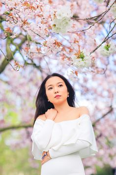 spring sakura cherry blossom fashion portrait asian beauty photo shoot london regents park _01