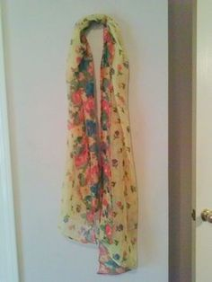 New! Yellow Floral Print Scarf/Cover/Wrap