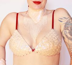 bikini top silicone scales Dragon Skin, Mermaid Swimsuit, Red Fabric, Swimsuits, Bikinis, Bikini Tops, Etsy Shop, Bra, Boutique