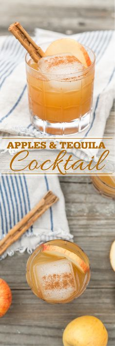 Apples and Tequila Fall Cocktail perfect for Thanksgiving!