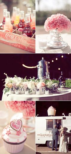 so many ideas for decorating... parties, engagment parties, showers, weddings...