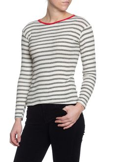 L/S Striped Knit Tshirt