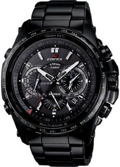 Casio Edifice - one of the more affordable watches . Stylish Watches, Luxury Watches, Cool Watches, Watches For Men, Men's Watches, Black Watches, Casio Edifice, G Shock Watches, Sport Watches