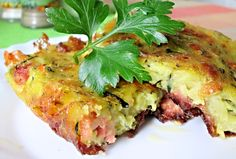 What To Cook, Lasagna, Baked Potato, Quiche, Tapas, Zucchini, Food And Drink, Potatoes, Yummy Food