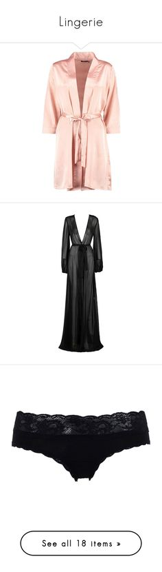 """Lingerie"" by wiffeyhaila ❤ liked on Polyvore featuring intimates, robes, pajamas, satin dressing gown, bath robes, satin bathrobe, satin robe, kimono dressing gown, dresses and gowns"