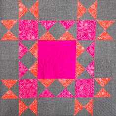 Block number 6 in the BERNINA Block of the Month Series is the Ohio Star Variation Block. Quilting Tutorials, Quilting Projects, Quilting Designs, Quilting Ideas, Mini Quilts, Baby Quilts, Pattern Blocks, Quilt Patterns, Bright Quilts