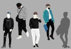V's Fashion Project <4> #BTS #V #fanart #bydinikw 👩🏻💻