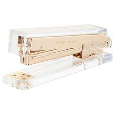 Buy kate spade new york Acrylic Stapler, Gold | John Lewis