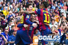 Menit 29 gol ketiga untuk Blaugrana. Andres Iniesta yang memberikan umpan silang kepada Lionel Messi dekat dari kotak penalty sukses menggiring bola menuju