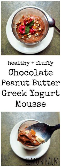 Chocolate Peanut Butter Greek Yogurt Mousse http://macthelm.blogspot ...