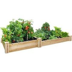 Greenes Fence Landscaping Supplies 48 in. x 96 in. Cedar Raised Garden Bed RC 4C8T2