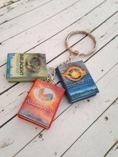 Divergent Trilogy book charm bracelet/keychain made by CharmaLlama