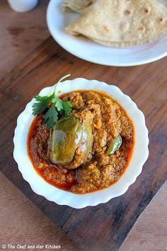 THE CHEF and HER KITCHEN: Bharli Vangi | Maharastrian style Stuffed Brinjals