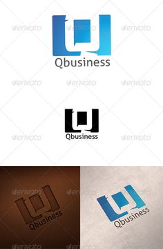 Q logo ...  blue, business, letter, logo, market, q