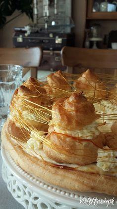 St. Honore torta Pastries, Parisian, Breakfast, Ethnic Recipes, Food, Good Ideas, Kitchens, Morning Coffee, Tarts