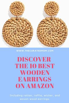 Ready for some new rattan earrings? It's easy to jump on this trend (and on the cheap!) with this curated list of Amazon fashion finds in the jewelry department! #amazonfashion #earrings #woodenearrings Wooden Earrings, Bar Earrings, Teardrop Earrings, Earrings Handmade, Statement Earrings, Best Weave, Rattan, Wicker, Dainty Bracelets