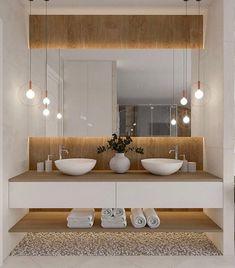 Łazienka duza - Lilly is Love Bathroom Design Luxury, Modern Bathroom Design, Bathroom Design Inspiration, Toilet Design, Beautiful Bathrooms, Interior Design Living Room, Home Decor, Bedroom Nook, Bedroom Ideas