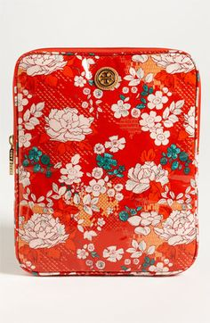 There's just something about this that I just love... Tory Burch Coated Poplin Tablet Sleeve.