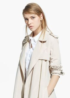 Lovely Woman zip trench coat new,mango size XL UK 14 MNG