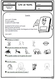 Teach Your Child to Read - Petits textes pour travailler la lecture et la comprhension en CP - organiser par son - Give Your Child a Head Start, and.Pave the Way for a Bright, Successful Future. French Teaching Resources, Teaching French, French Worksheets, French Education, Core French, French Classroom, French Immersion, French Lessons, Texts