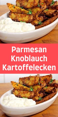 Parmesan-Knoblauch-Kartoffelecken - Kartoffelgerichte - You are in the right place about rezepte abendessen Here we offer you the most beautiful pictures - Chicken Parmesan Recipes, Healthy Chicken Recipes, Easy Healthy Recipes, Quick Easy Meals, Easy Dinner Recipes, Soup Recipes, Vegetarian Recipes, Garlic Parmesan, Garlic Recipes