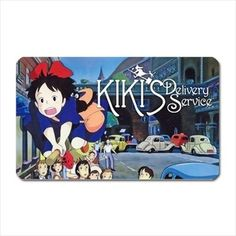Beautiful Kiki's Delivery Service Fridge Magnet - Anime Studio Ghibli cartoon -