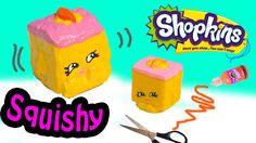 DIY Rare Shopkins Season 2 Carrie Carrot Cake SQUISHY TOY Craft Make & D...