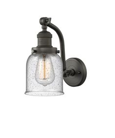 One Light Double Swivel Wall Sconce Oiled Rubbed Bronze Finish with Seedy Glass Bathroom Sconces, Wall Sconce Lighting, Bathroom Lighting, Glass Bathtub, Farmhouse Wall Sconces, Black Wall Lights, Entryway Lighting, Wall Light Fixtures, Glass Replacement