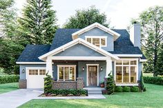 Plan Cottage Home Plan with Great Curb Appeal This cottage. Plan Cottage Home Plan with Great Curb Appeal This cottage house plan gives o Cottage Style House Plans, Cottage Style Homes, Small House Plans, House Floor Plans, Small Cottage Homes, Family Home Plans, Cottage Floor Plans, Cottage House Designs, Modern Cottage Style