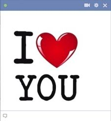 I Love You facebook chat emoticon