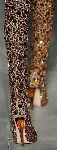 ♔ Alexander McQueen Sparkle Boots