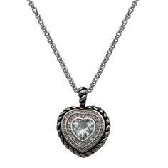 Montana Silversmiths Crystal Heart Pendant Necklace