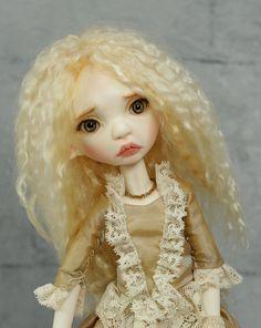 Tiny BJD girl Runa Tiny Toffee OOAK Artist BJD by miradolls