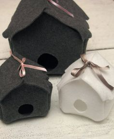 Christmas calendar 2009: 22. Birdhouse christmas ornaments
