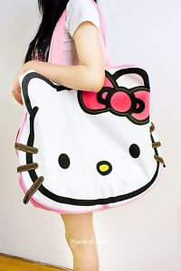 Hello Kitty Huge Travel shopping Shoulder Hand bag Tote cfee52a1928e1