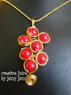 Jewelry: wired-wrap necklace