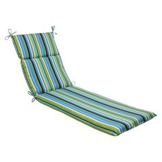 Pillow Perfect™ Chaise Lounge Cushion - Topanda Stripe