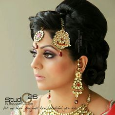 Indian Bride - love that her makeup isn't so atrociously overdone.