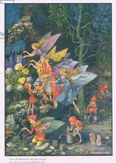 1930s The WINTER ACONITE FAIRY Cicely Mary by