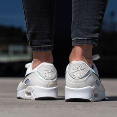 Nike Air Max 90 Herren-/ Frauenchuh weiß / schwarz