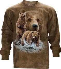 The Mountain - Find 10 Brown Bears Long Sleeve Tee, $30.00 (http://shop.themountain.me/find-10-brown-bears-long-sleeve-tee/)