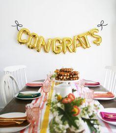 Congrats Balloon Banner