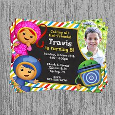 Team Umizoomi Birthday Invitation Digital File; You Print on Etsy, $11.16 CAD