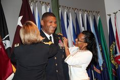 Col. Patrick D. Sargent was  promoted June 14, 2013  to the rank of Brigadier General replacing Brig. Gen. Cho as the Deputy Chief of Staff for Operations, U.S. Army Medical Command. Pictured from left to right are - Lt. Gen. Patricia Horoho, Brig. Gen. Patrick Sargent and Sherry Sargent. (Courtesy photo)