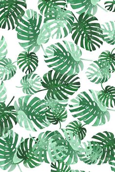 Green and emerald palms inspired by Palm Springs by bellarichards. Beautiful pattern for beach attire, summer napkins, or beach house throw pillows!