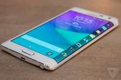 The Galaxy Note Edge is a flagship phone with an entirely new kind of curved display! Check it out! Amazing!