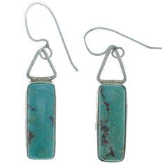 Great Falls Metal Works Turquoise Dangle Earrings
